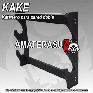 Kake exhibidor de Katana Doble para pared