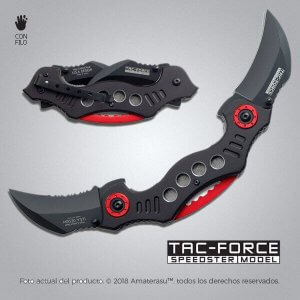 Kerambit táctico doble plegable Tac-Force Speedster Model